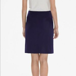 MM. Lafleur Navy Noho Pencil Straight Skirt